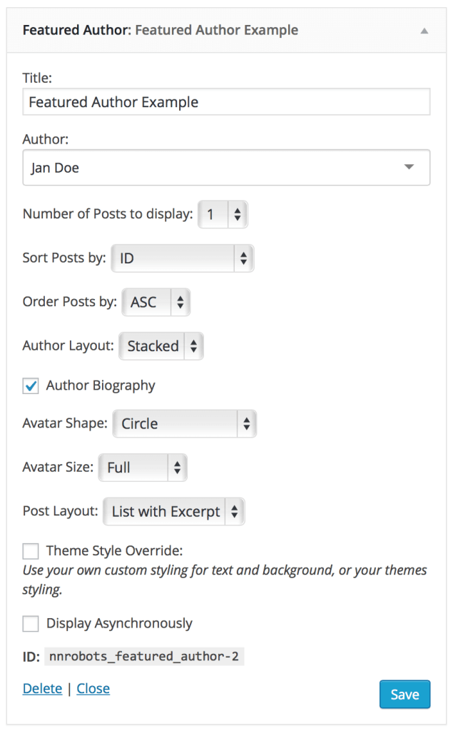 author-posts-featured-author-widget-settings