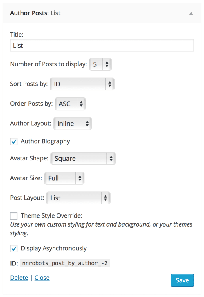 author-posts-widget-settings
