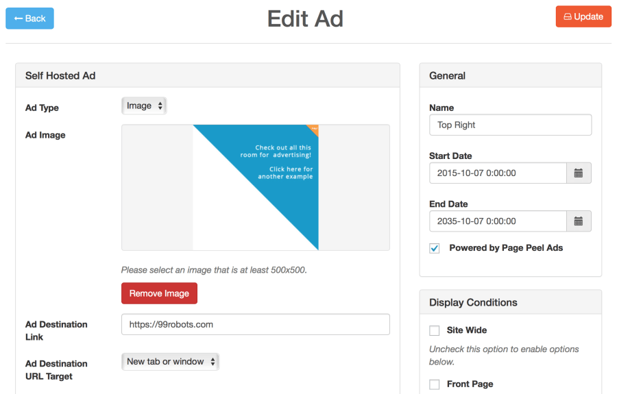 page-peel-ads-settings