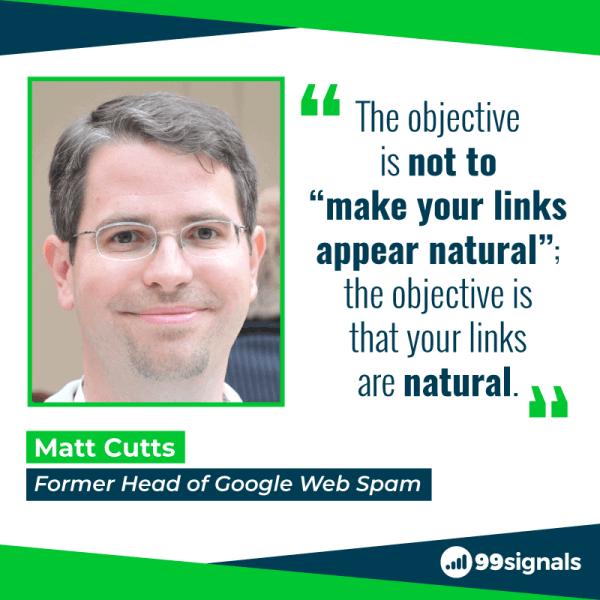 Matt Cutts su Natural Link Building - 99 segnali