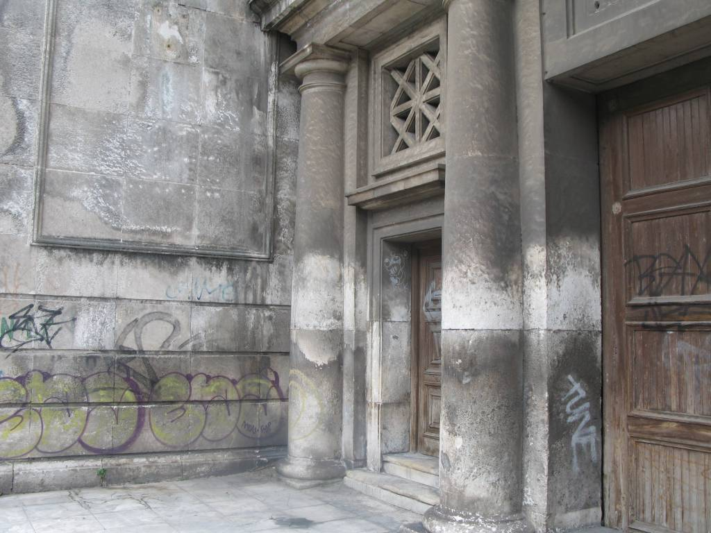 dusty stone entranceway