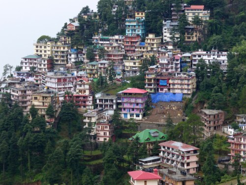 houses on steep hillside