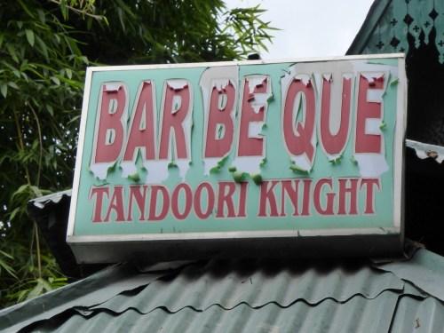 Bar Be Que Tandoori Knight - sign