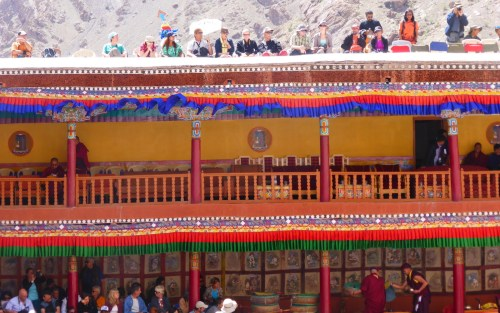 colourful monastery balconies