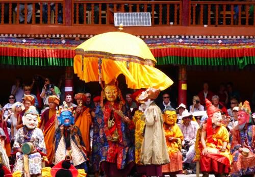 masked dancers