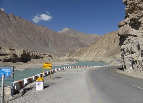 riverside road through mountains