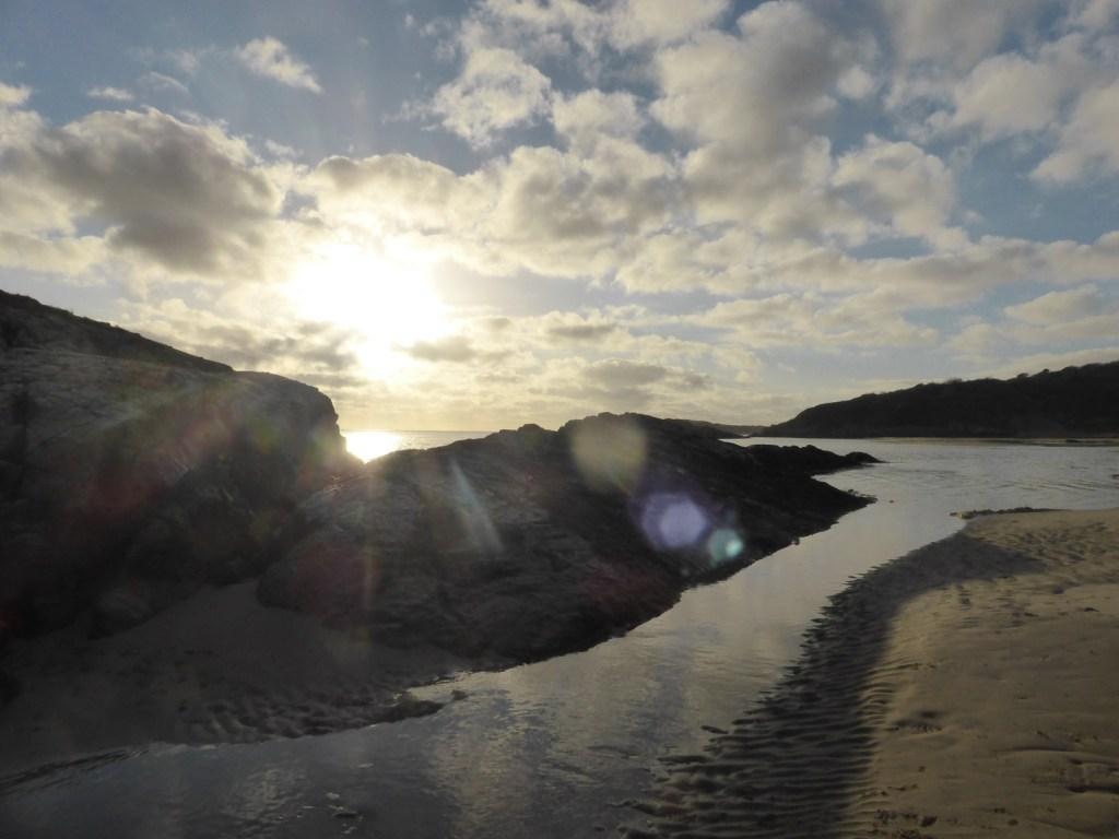 sunspots on shoreline