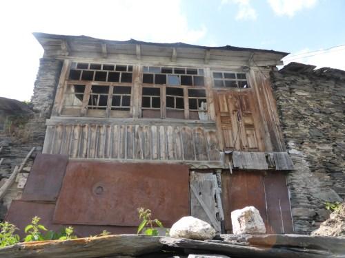 old wooden window and door frame