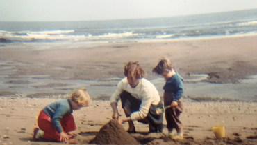 playing on beach