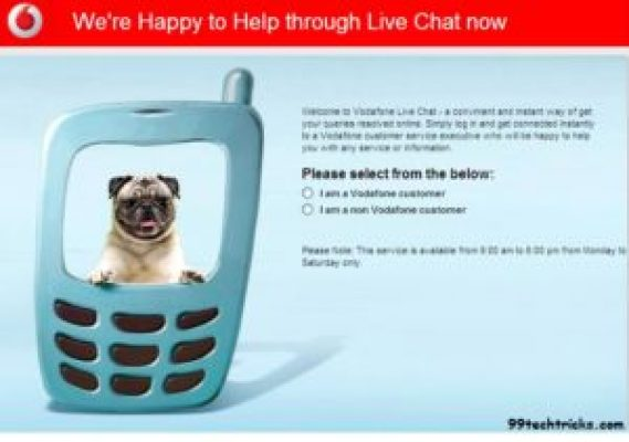 live chat service with vodaphone
