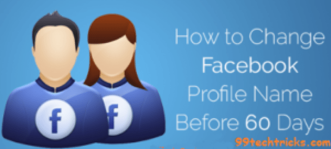 Change Facebook profile name