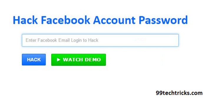 How to hack a facebook account password without downloading anything