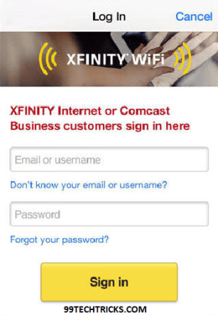 HACK XFINITY LOGIN USERNAME PASSWORD