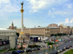 Maidan:  Platz der Unabhängigkeit Kiew