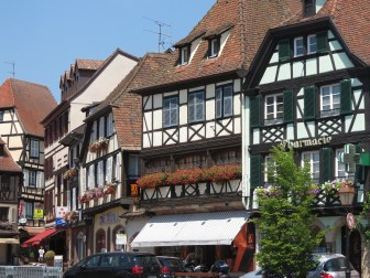 Häuserfassaden in Ville d´Obernai (Elasass / Alsace)