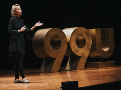 Kat Holmes speaking on the 99U main stage