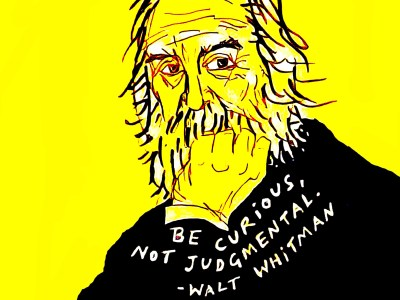 Brad Heckman illustration of Walt Whitman.