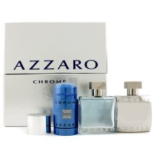 AZZARO Chrome Gift Set EDT 50 ml, After Shave 50 ml and 75 ml deostick
