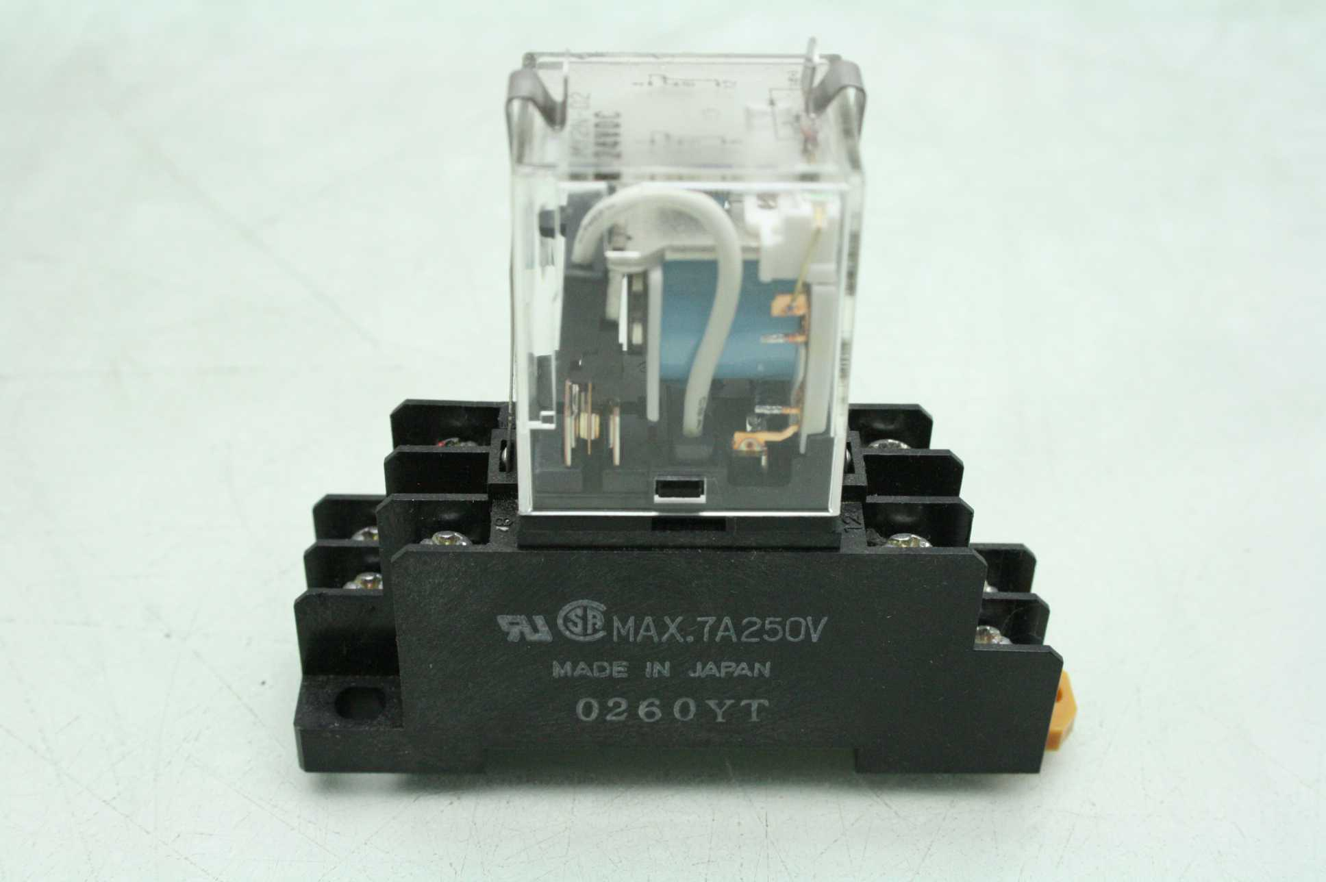 omron my2n relay wiring diagram model t 7 d2 24vdc w amp base used motion