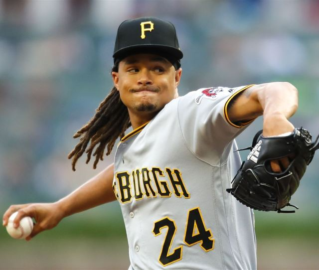 Chris Archer Of The Pittsburgh Pirates Pitches In The First Inning Against The Atlanta Braves At 5 More Chris Archer Gets Tagged For Five Home Runs