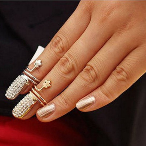 Nail Knuckle Ring, Gold Knuckle Ring, Silver Knuckle Ring