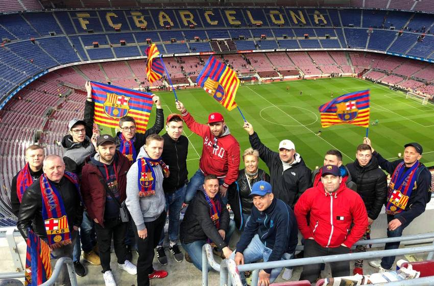 Travel to Camp Nou!
