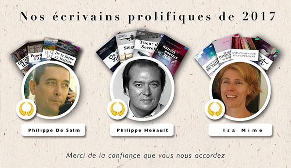 Nos écrivains publient plusieurs livres chez 9 éditions
