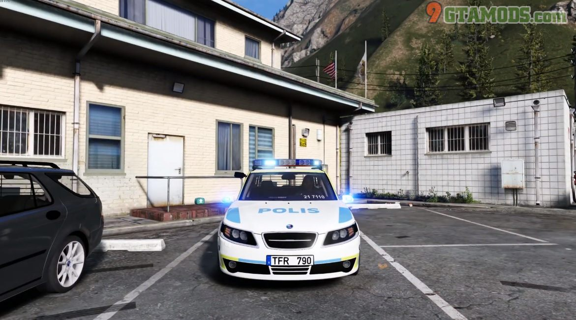 2009 Saab 9-5 Swedish Police [Marked | ELS] 1.0 – GtaV Car Mod ...