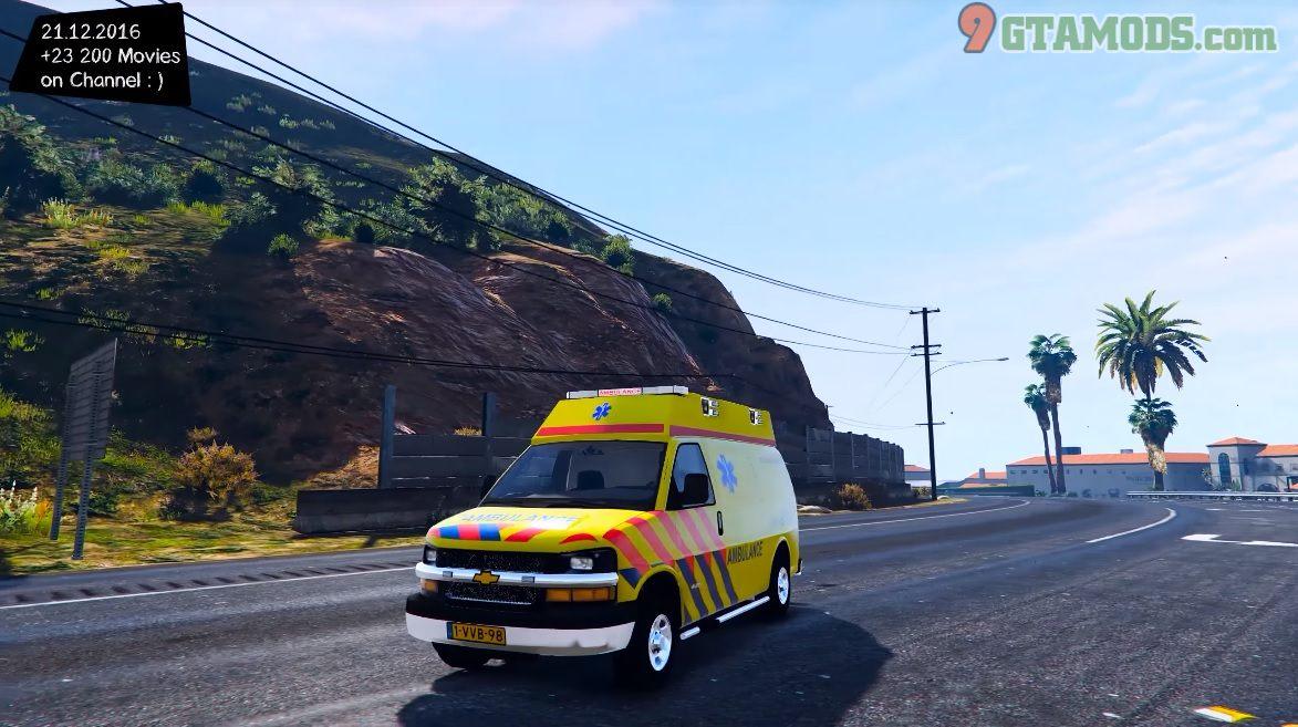 Chevrolet Express Van Dutch Chevy Ambulance Version 1 0 9gtamods Com