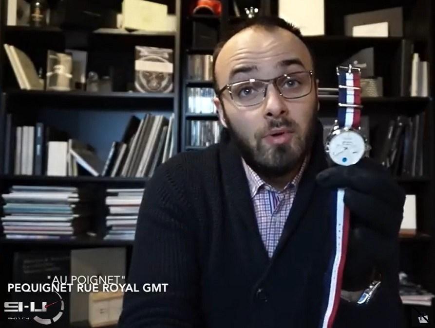 Pequignet Rue Royale GMT, seconde revue poignet de mon ami Geoffrey de luxe-montre.com / Rotekson