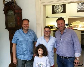 Tim, Chloé, Christophe et Bart