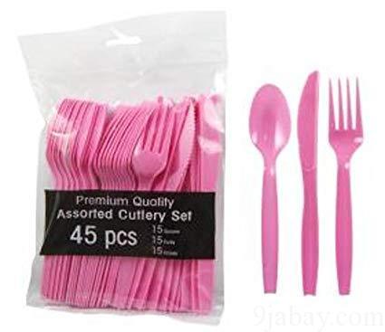 bulk party plastic fork, spoon and knife lagos, nigeria, 9jabay wholesales