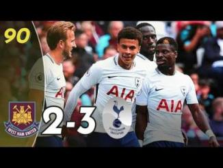 VIDEO : West Ham vs Tottenham Hotspur 2-3 - All Goals & Highlights Premier League 23/09/2017