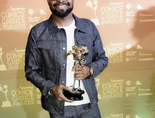 Basketmouth Wins Award For The Pan African Comedian Of The Year (Photos)