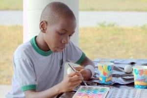 Black kid painting edited