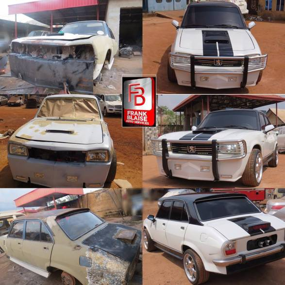 Man-Redesigns-An-Abandoned-Peugeot-504-In-Enugu Tech News Uncategorized  See What An Auto Designer Did With An Abandoned Peugeot 504 In Enugu (Photos)