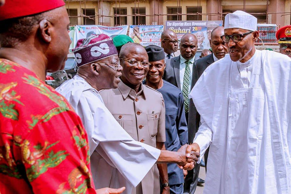 Image result for Why Buhari bola Tinubu