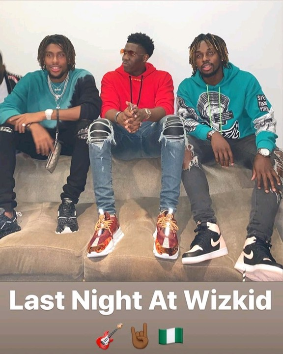Alex Iwobi With Friends At Wizkid's Starboy Fest (Photo)