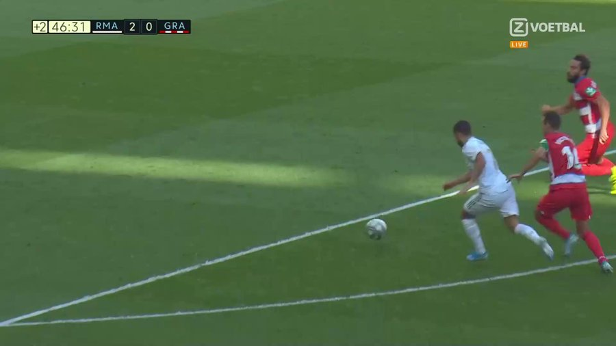 Eden Hazard Scored his First Madrid Goal with a Fine finish 4