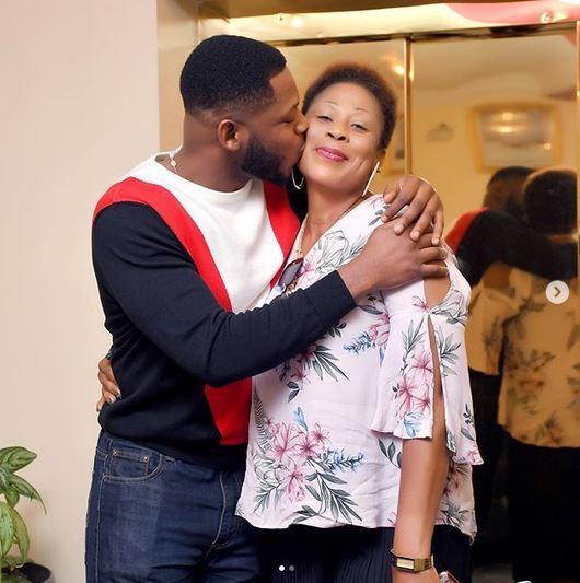 BBNaija Star, Frodd Shows Off His Beautiful Mum To Celebrate Her 50th Birthday (Photos) 8