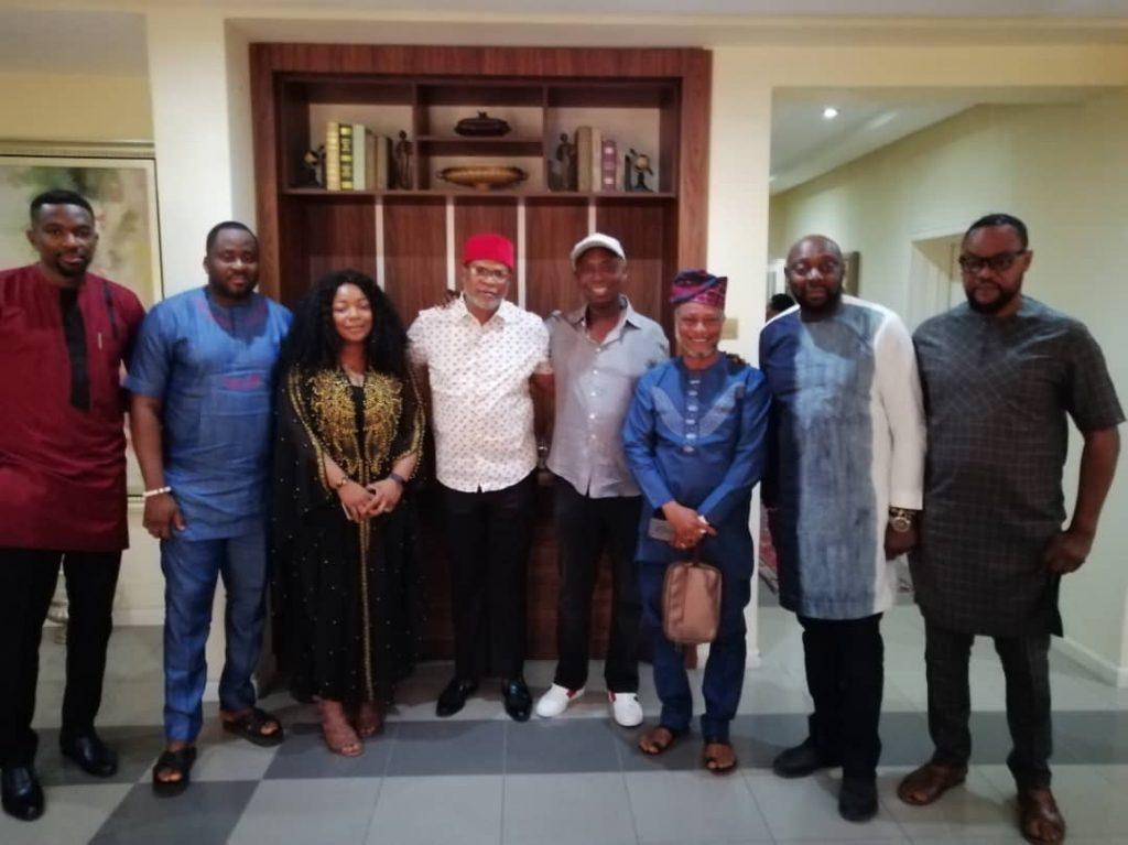 Desmond Elliot, Fred Amata, Segun Arinze, Bimbo Akintola Visit Ned Nwoko