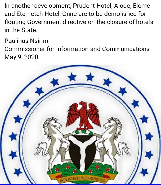 Prudent Hotel, Etemeteh Hotel To Be Demolished For Flouting Wike's Directives 4