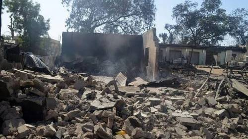 Boko Haram Terrorists Burn Hospital, District Head's Palace In Dapchi 1