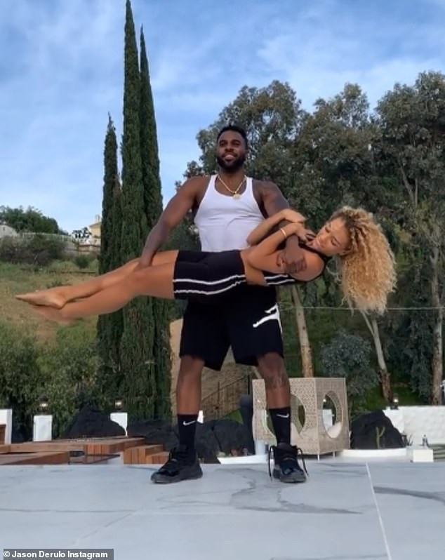 Jason Derulo Reportedly Dating Manchester United Player Jesse Lingard's Ex-Girlfriend, Jena Frumes, With The Two Self-Isolating Together In LA (Photos) 17