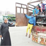PICTURES OF: 29 Commercial Motorcyclists Traveling To Lagos Caught Inside Truck In Abuja