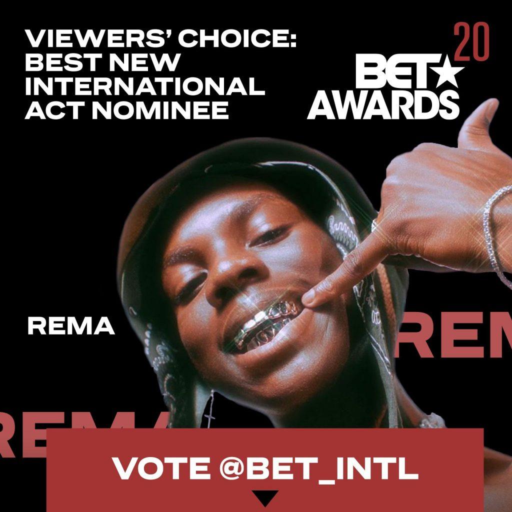 Burna Boy, Rema, Drake, Others Bag 'BET Awards' Nominations