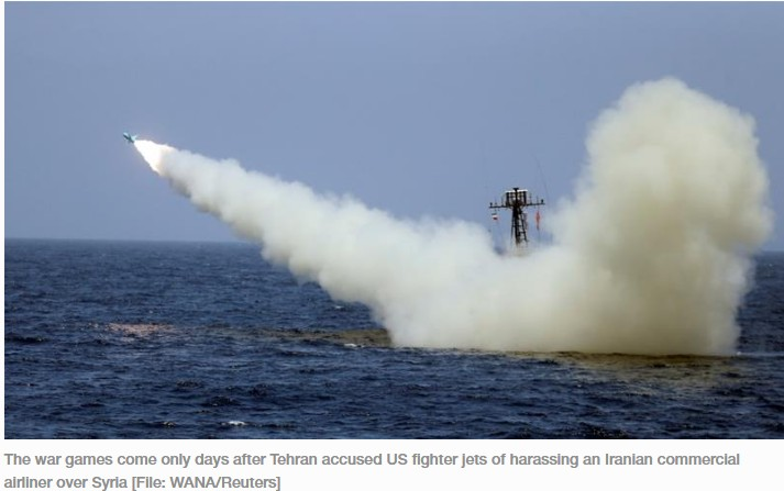 Iran Fires Missile At Mock US Aircraft Carrier During Exercise (Photos) 2