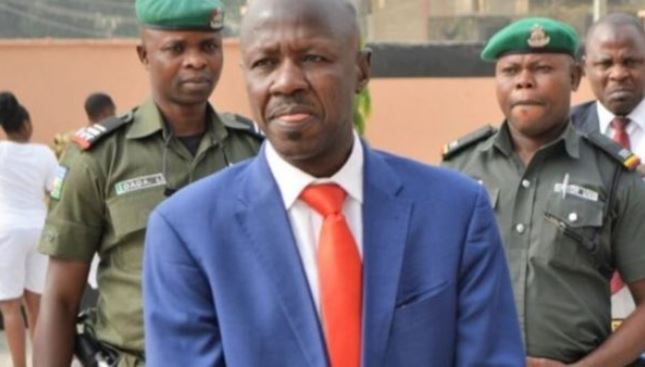 Suspended EFCC Boss, Magu Shuns Police Cell, Sleeps In Mosque 1