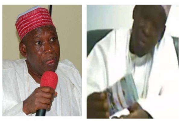 Videos of Ganduje Collecting Bribe Plays On Billboards In Edo, Nigerians React 2