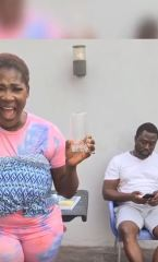 Mercy Johnson Teases Her Husband During Ludo Game